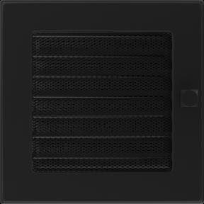 Решетка KRATKI чёрная (покрашенная) 17х17 см с жалюзями