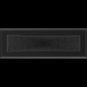 Решетка KRATKI Oskar чёрный (покрашенная) 11х32 см