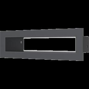 Решетка KRATKI туннель чёрная 6х20 см