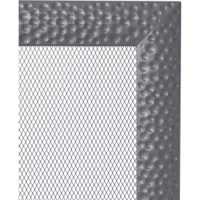 Решетка KRATKI Venus графитовый (покрашенная) 11х32 см