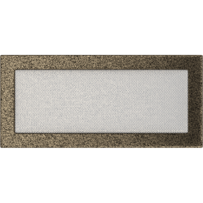 Решетка KRATKI чёрное золото (покрашенная) 17х37 см