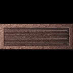 Решетка KRATKI медная (покрашенная) 17х49 см с жалюзями