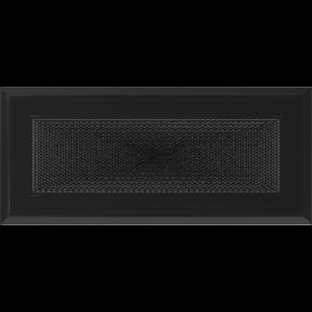 Решетка KRATKI Oskar чёрный (покрашенная) 11х24 см