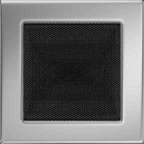 Решетка KRATKI никелированная 17х17 см