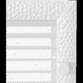 Решетка KRATKI Venus белый (покрашенная) 17х49 см с жалюзями
