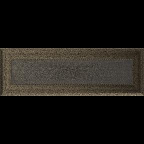 Решетка KRATKI Oskar чёрно-золотой (покрашенная) 11х32 см