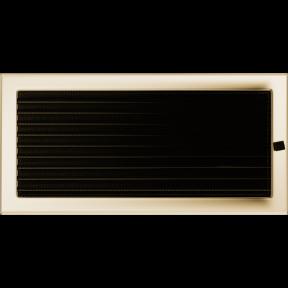 Решетка KRATKI позолоченная 22х45 см c жалюзями