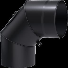 Колено 90° kratki D-130 мм. толщ. 2 мм.
