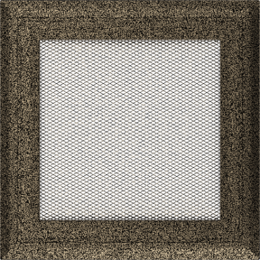 Решетка KRATKI чёрное золото (покрашенная) 17х17 см