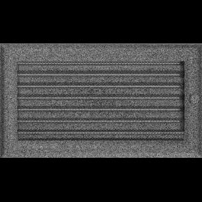 Решетка KRATKI Oskar чёрно-серебряный (покрашенная) 17х30 см с жалюзями