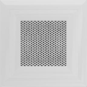 Решетка KRATKI белая (покрашенная) 11х11 см