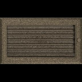 Решетка KRATKI Oskar чёрно-золотой (покрашенная) 17х30 см с жалюзями