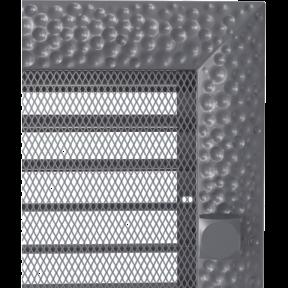 Решетка KRATKI Venus графитовый (покрашенная) 22х22 см с жалюзями