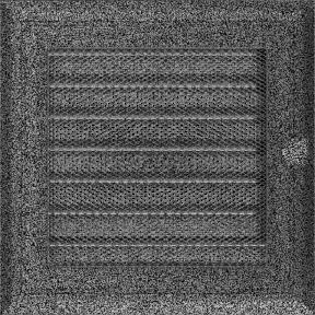 Решетка KRATKI Oskar чёрно-серебряный (покрашенная) 17х17 см с жалюзями