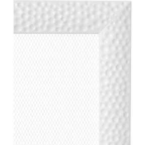 Решетка KRATKI Venus белый (покрашенная) 17х37 см