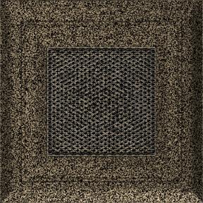 Решетка KRATKI Oskar чёрно-золотой (покрашенная) 11х11 см