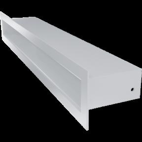 Решетка KRATKI туннель белая 6х40 см