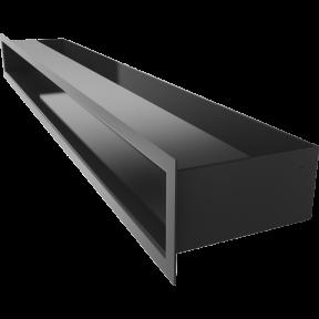 Решетка KRATKI люфт чёрная 9х80 см