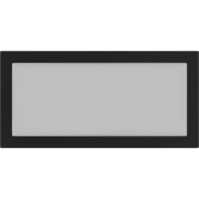 Решетка KRATKI чёрная (покрашенная) 22х45 см