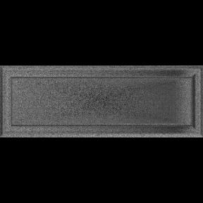 Решетка KRATKI Oskar чёрно-серебряный (покрашенная) 17х49 см