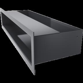 Решетка KRATKI люфт графитовая 9х40 см