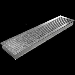 Решетка KRATKI FRESH чёрно-серебрянная 17х70 см