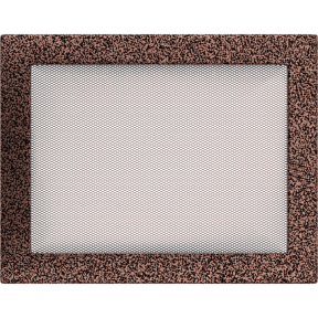 Решетка KRATKI медная (покрашенная) 22х30 см