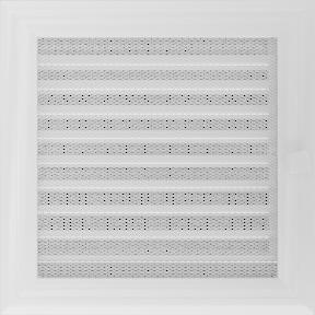 Решетка KRATKI Oskar белый (покрашенная) 22х22 см с жалюзями