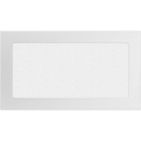 Решетка KRATKI белая (покрашенная) 17х30 см