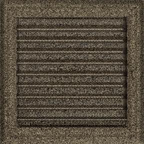 Решетка KRATKI Oskar чёрно-золотой (покрашенная) 22х22 см с жалюзями