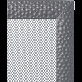 Решетка KRATKI Venus графитовый (покрашенная) 17х37 см