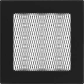 Решетка KRATKI чёрная (покрашенная) 17х17 см