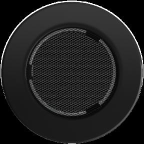 Решетка KRATKI круглая FI чёрная 100 мм