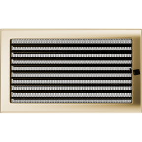 Решетка KRATKI позолоченная 22х37 см c жалюзями
