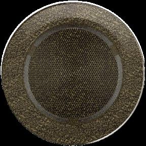Решетка KRATKI круглая FI чёрно-золотая 100 мм