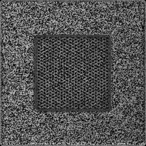 Решетка KRATKI чёрное серебро (покрашенная) 11х11 см