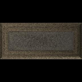 Решетка KRATKI Oskar чёрно-золотой (покрашенная) 11х24 см
