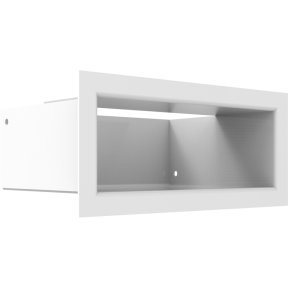 Решетка KRATKI люфт белая 9х20 см