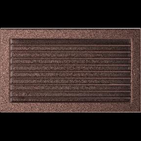 Решетка KRATKI медная (покрашенная) 22х37 см с жалюзями