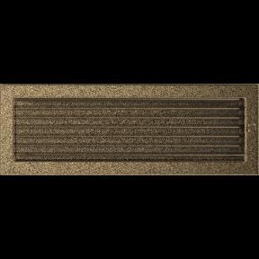 Решетка KRATKI чёрное золото (покрашенная) 17х49 см с жалюзями