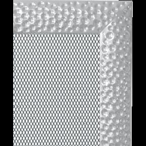 Решетка KRATKI Venus никелированый 22х37 см