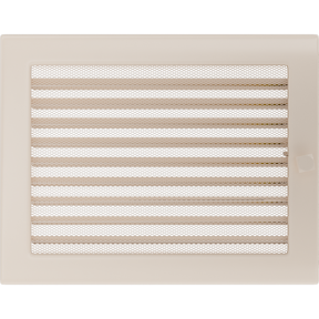 Решетка KRATKI бежевая (покрашенная) 22х30 см с жалюзями