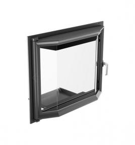 Дверца для камина KRATKI Oliwia/Wiktor 515х738 мм с призматическим стеклом