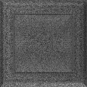 Решетка KRATKI Oskar чёрно-серебряный (покрашенная) 17х17 см
