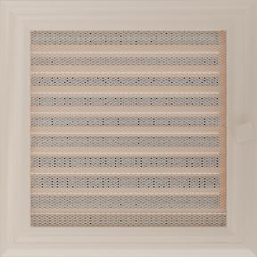 Решетка KRATKI Oskar бежевый (покрашенная) 22х22 см с жалюзями