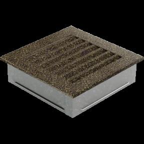 Решетка KRATKI FRESH чёрно-золотая 17х17 см