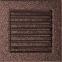 Решетка KRATKI медная (покрашенная) 17х17 см с жалюзями