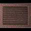 Решетка KRATKI медная (покрашенная) 22х30 см с жалюзями