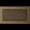 Решетка KRATKI чёрное золото (покрашенная) 17х30 см с жалюзями