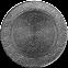 Решетка KRATKI круглая FI чёрно-серебряная 150 мм